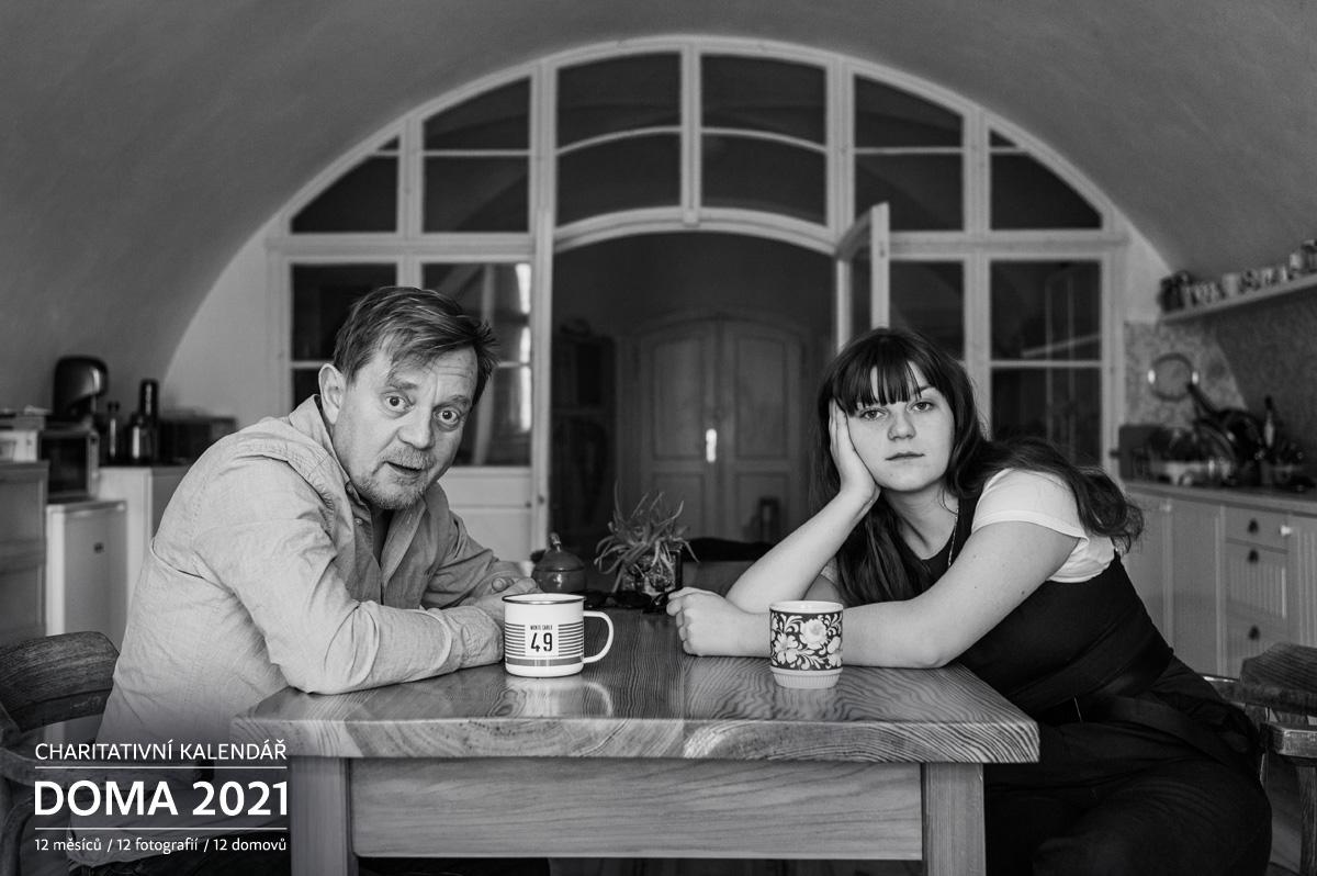 Anna Čtvrtníčková s otcem Petrem Doma 2021