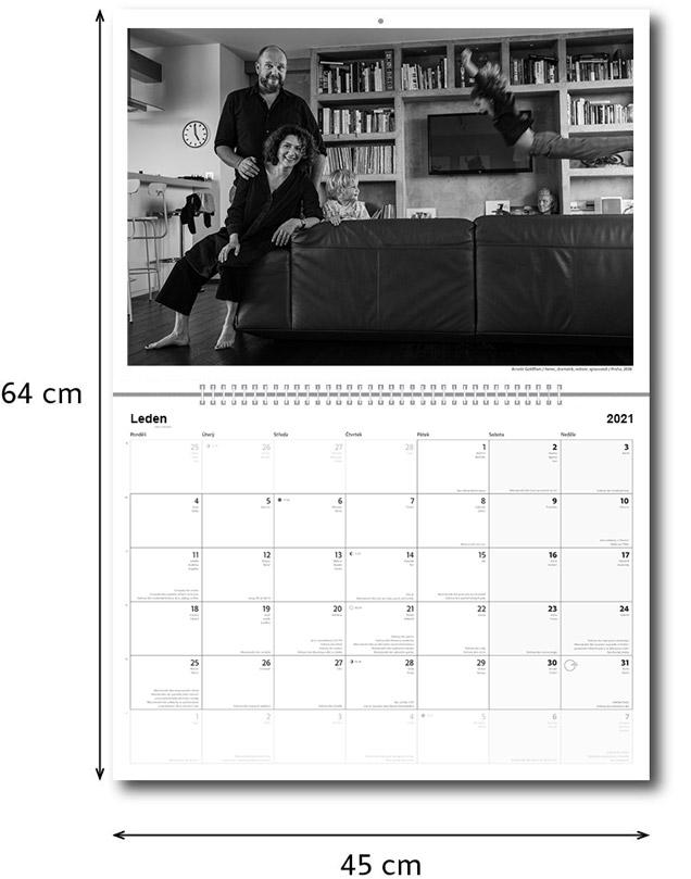 Náhled stránky kalendáře 2022